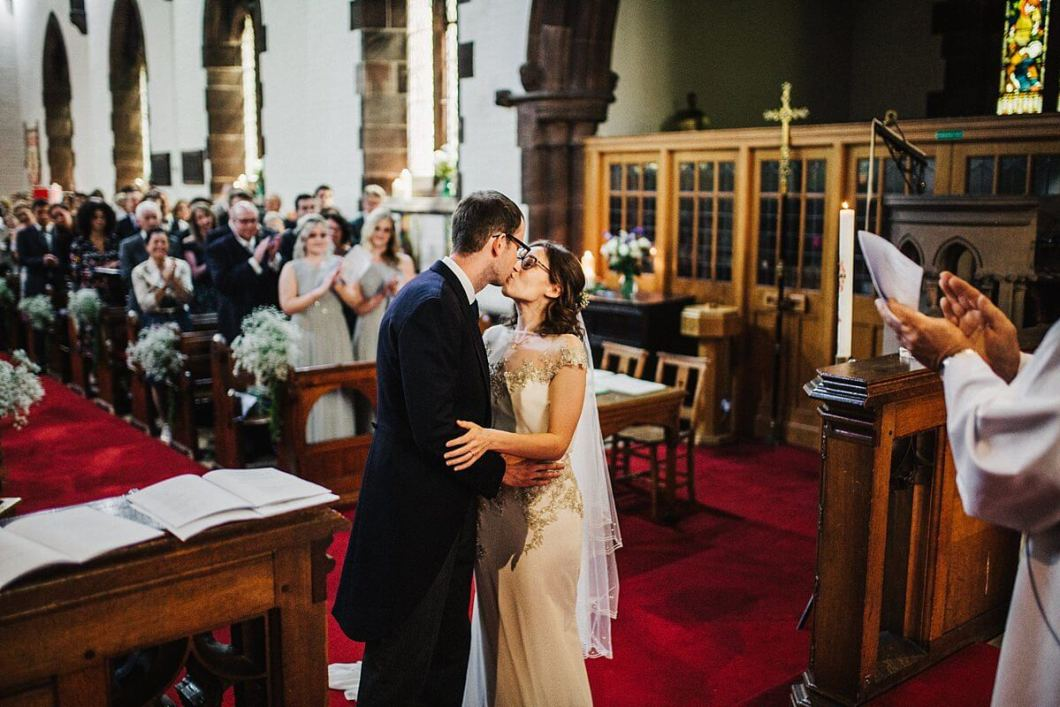 The first kiss at St Thomas's Church