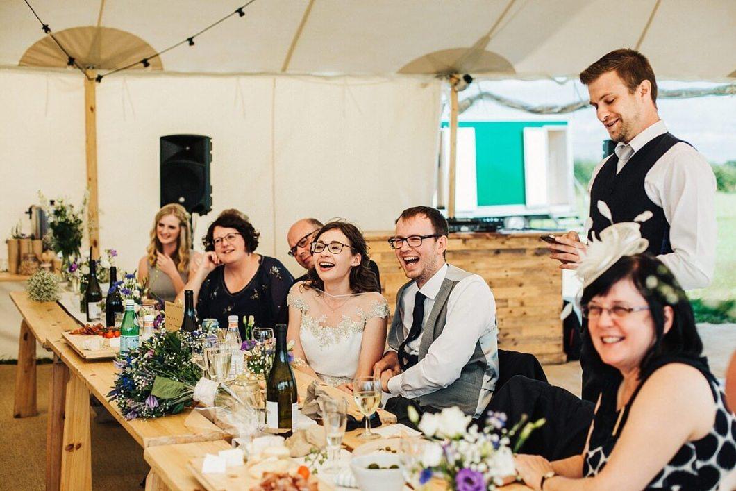 Fun outdoor wedding