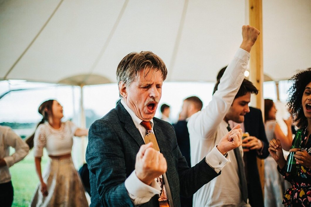 Dancing at the marquee wedding