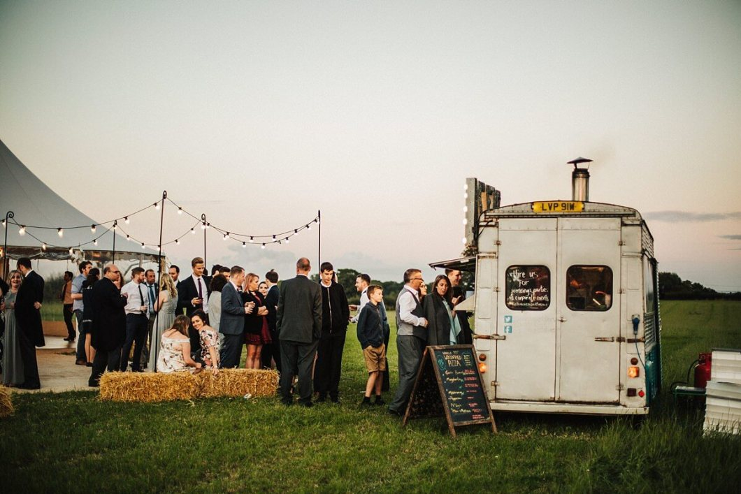 Wood-fired wedding pizza