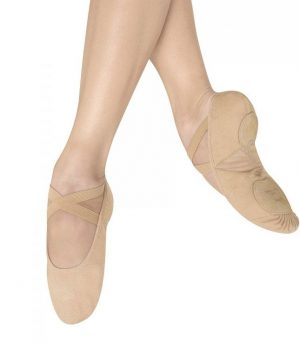 Zapatillas de Puntas Pro Arch Canvas de tela y suela partida, Bloch.