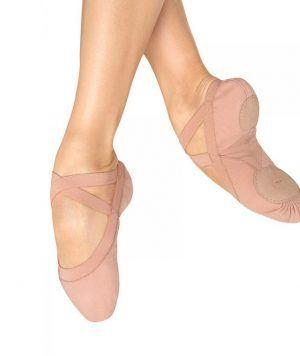 Zapatillas de Puntas Pro Elastic Canvas Elastic de lona y suela partida, Bloch.