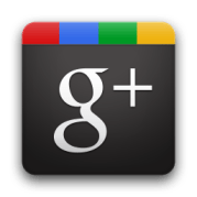 Google Plus square black and color g+ icon