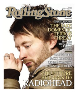 Radiohead Thom Yorke cover of Rolling Stone issue 1045 February 2008