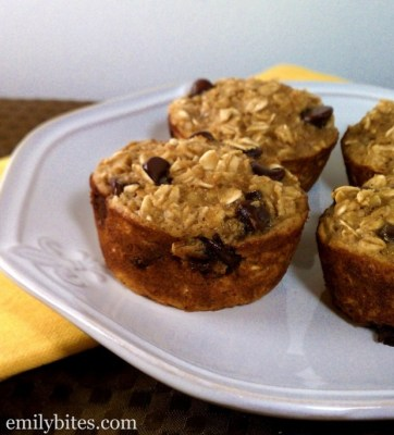 Banana Chocolate Chip Baked Oatmeal Singles