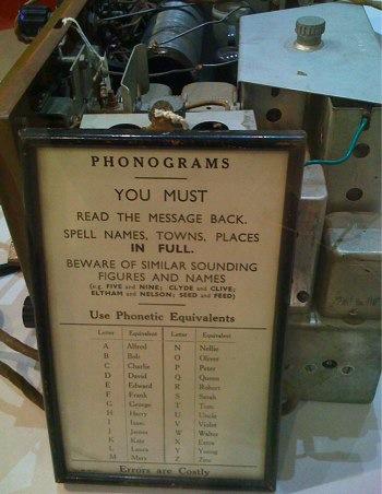 phonograms sign at invercargill museum, new zealand
