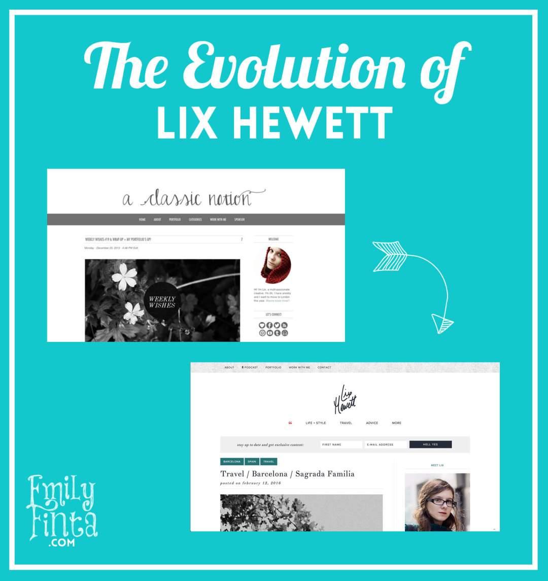 Emily Finta - Lix Hewett Branding Evolution