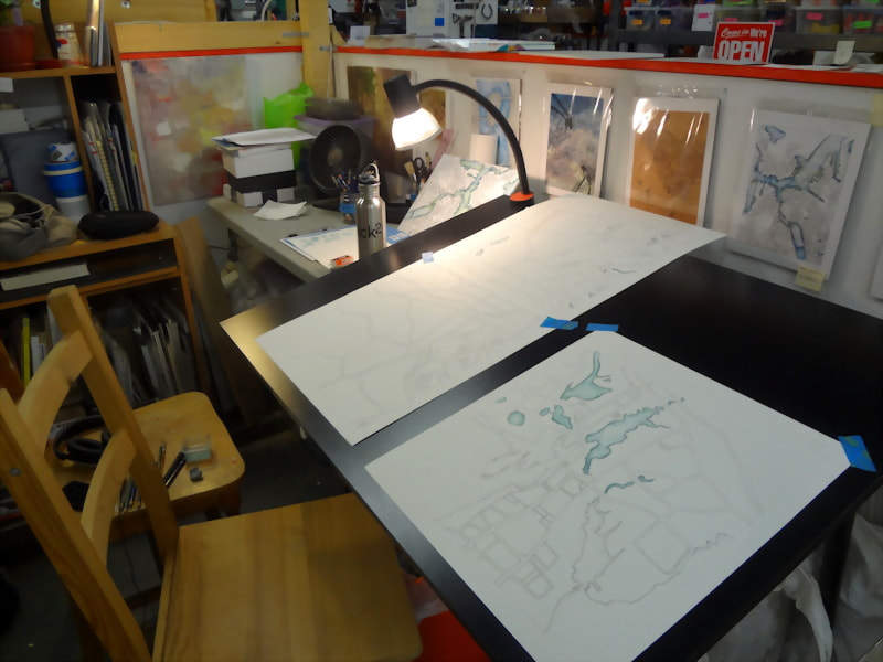 10 painting panels studio