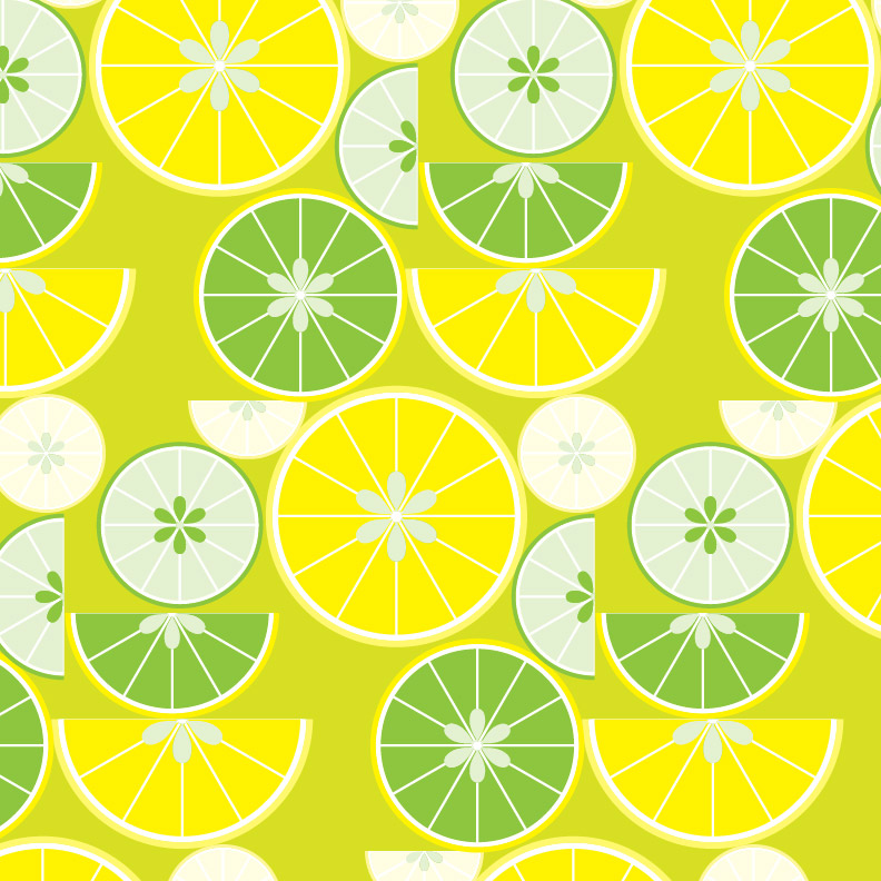 Citrus fruit continuous patterns | emily longbrake