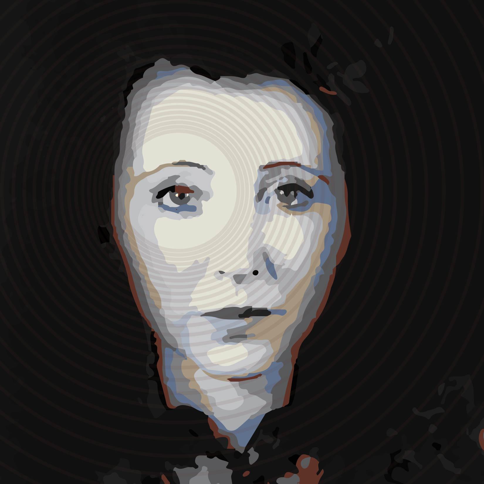 Warhol Style Portrait Of Anais Nin 07