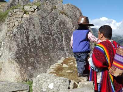 Father and Son, Machu Picchu