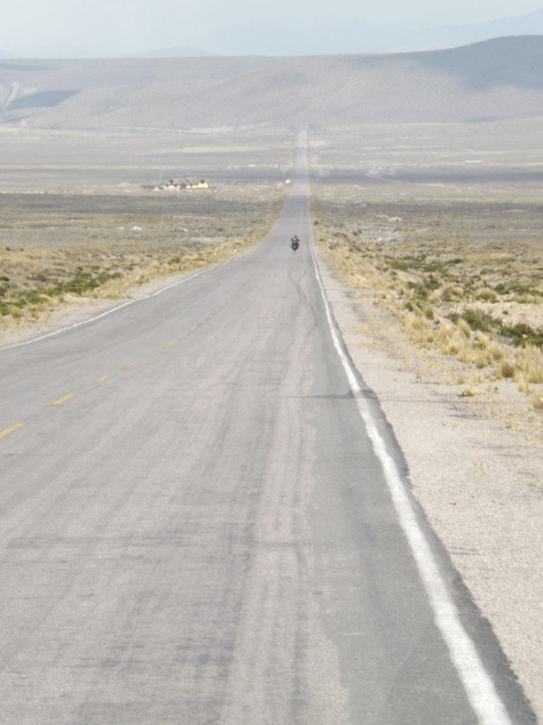 Long road in the Andes