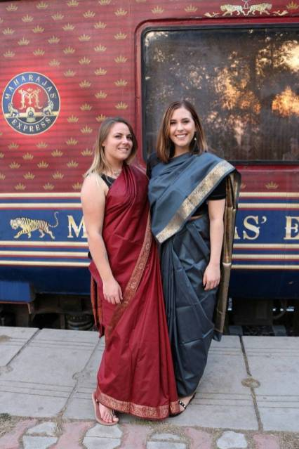 sari night on the Maharajas' Express