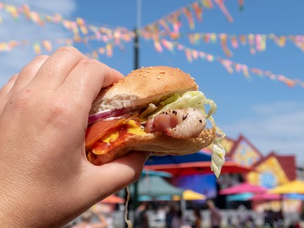 Lucky Chip Burger at Dreamland in Margate