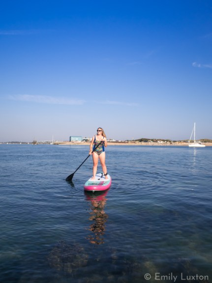 girl on SUP in Portsmouth UK