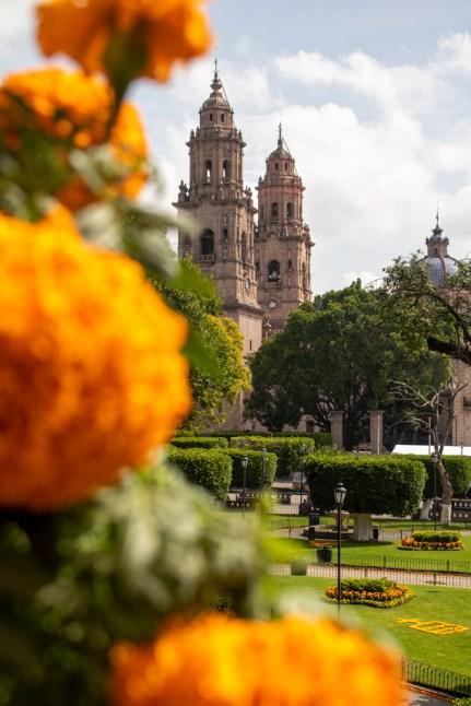 Morelia Cathedral Michoacan Mexico