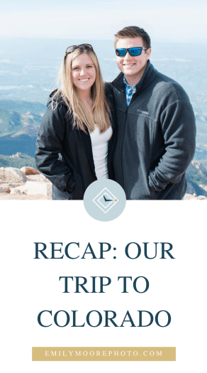 Recap: Our Trip to Colorado | Emily Moore | Private Photo Editor | Take a peek at my recap of our trip to Denver, Colorado. We visited breweries, Red Rock Park & Amphitheater, and took the Cog Railway up to Pike's Peak!