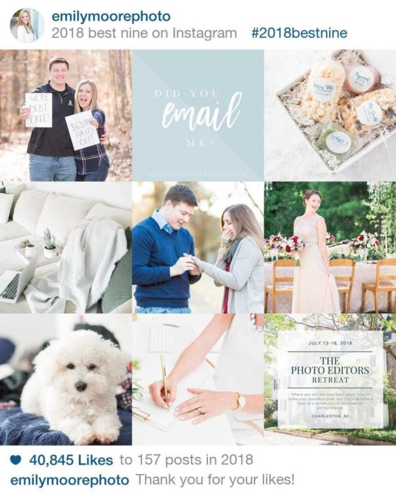 Instagram Best of Nine 2018 | emilymoorephoto | Emily Moore | Boutique Photo Editing | Private Photo Editor