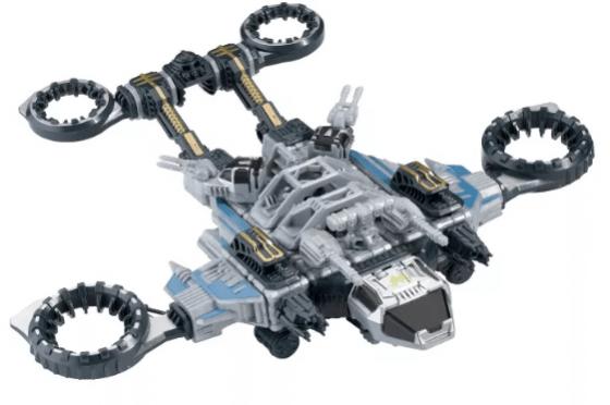 PlayMonster - Snap Ships Trident ST-33 Gunship Exclusive Vehicle & Locust