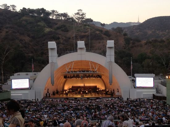 Verdi's Requiem at sunset at the Hollywood Bowl