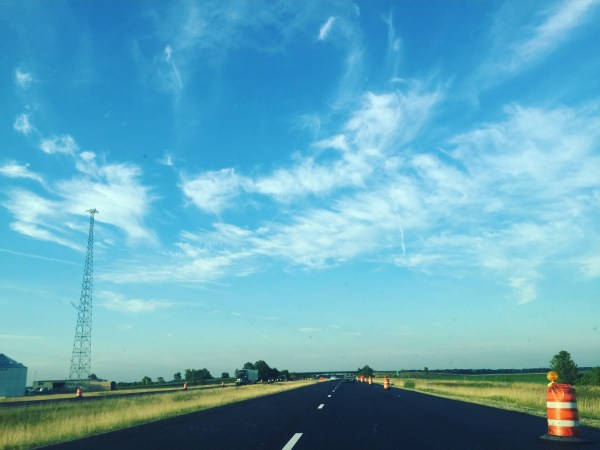 The clouds are the landscape in central Illinois. (© Emily Siner)