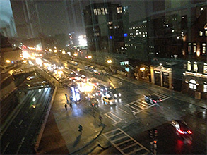 Boylston Street at night photo