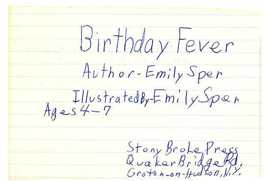 Birthday Fever Author Information, Ages
