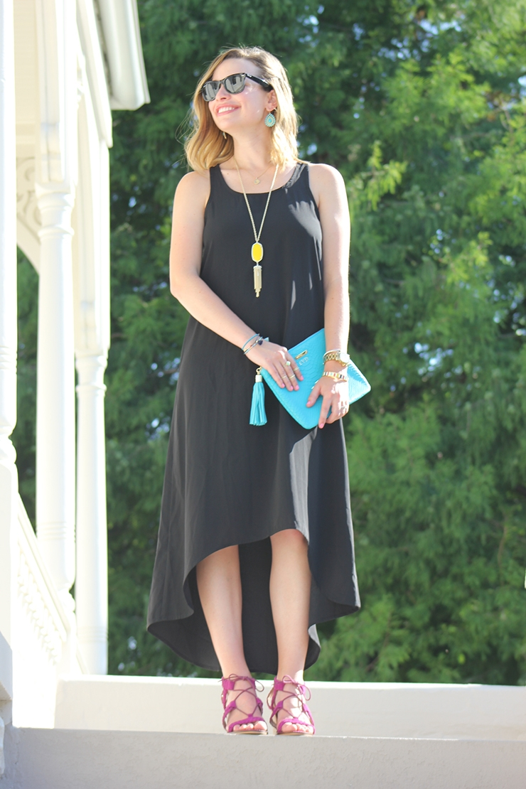 How to Style your Favorite Black Maxi Dress