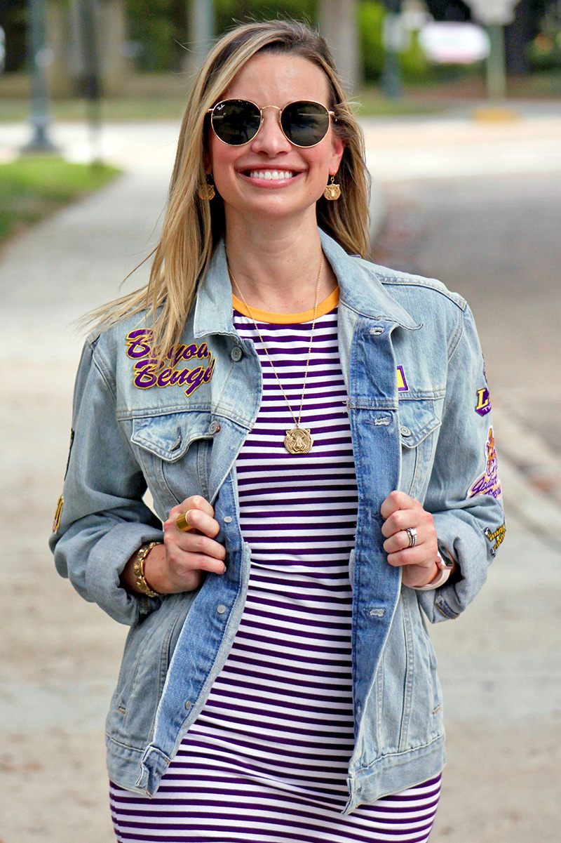 LSU Gameday Shopping Guide featured by top US LSU blogger, Emily Villere Dixon