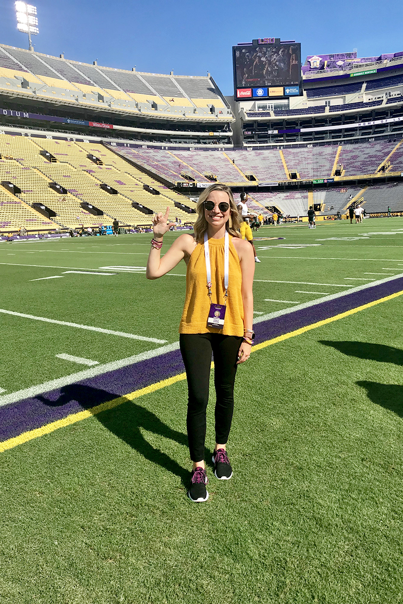 lsu vs southeastern gameday outfit
