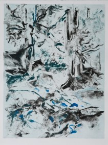 """No. 1-2, Part 2 of Landscape Diptych, Monotype on Rives BFK, 30"""" x 22"""", 2010"""