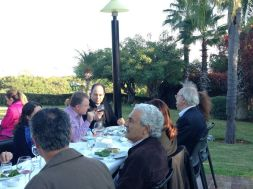 Emir at lunch with piano masters Hüseyin Sermet & Alfred Brendel and maestro Gürer Aykal.