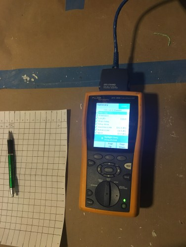 Cable certification With Fluke DTX 1200