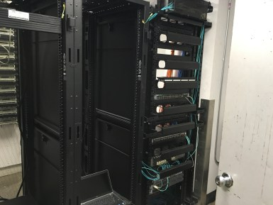Data Rack located in the data closet