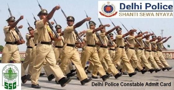 Delhi Police Constable Admit Card