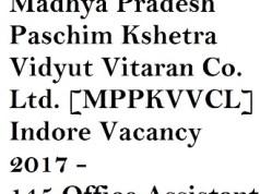 Madhya Pradesh Paschim Kshetra Vidyut Vitaran Co. Ltd. [MPPKVVCL] Indore