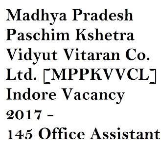 MPPKVVCL Indore Recruitment 2017