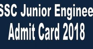 SSC Junior Engineer Admit Card 2018