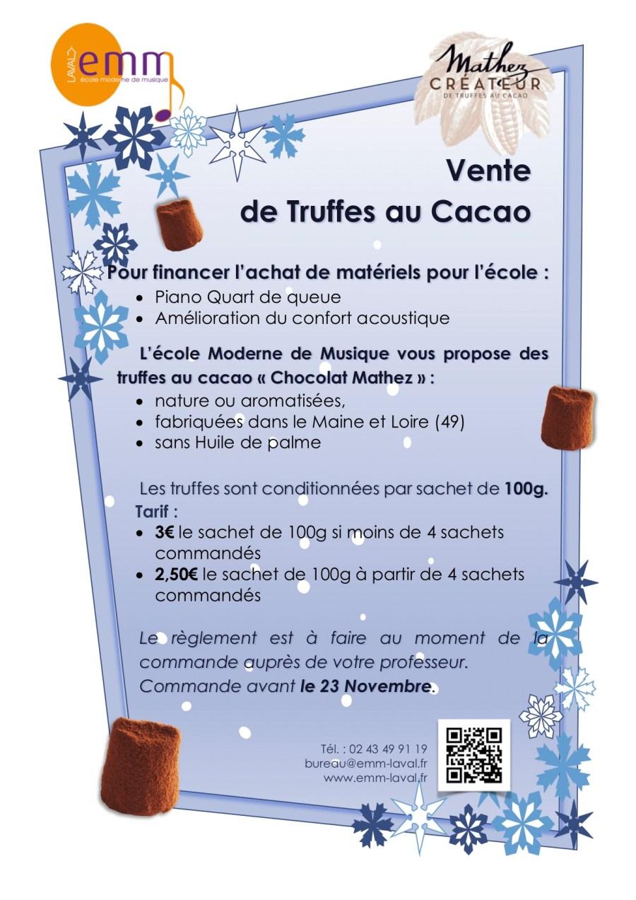 Flyer chocolats A4