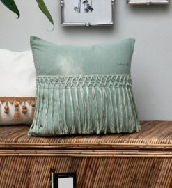 PoszewkaBotanical Fringe Pillow Cover