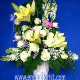 Rangkaian Bunga Lily Putih