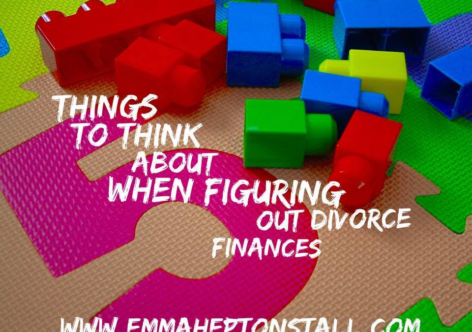 5 Things to think about when figuring out divorce finances