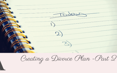 Creating a Divorce Plan – Part 2