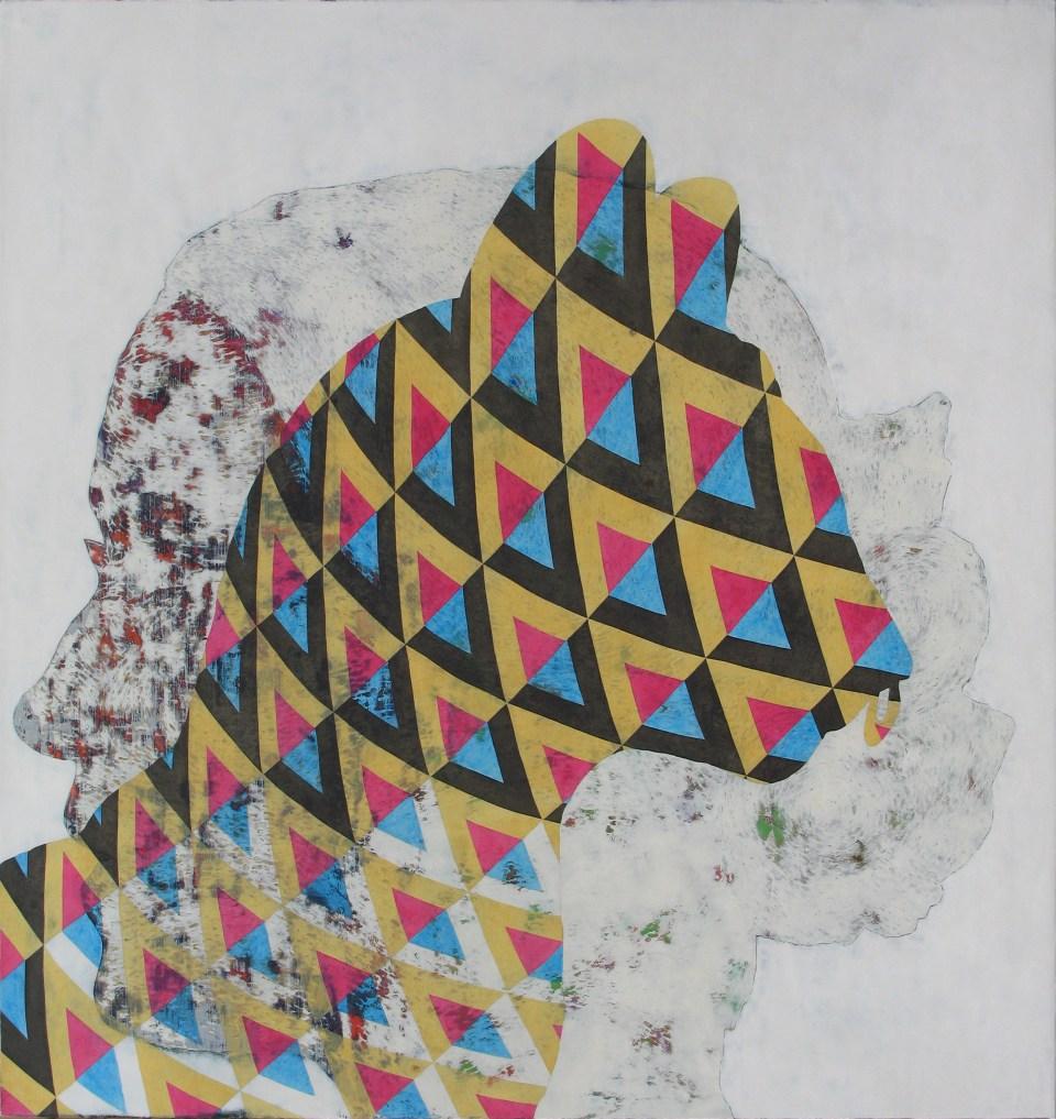 JAMES FISHER, Eiko, 2016, oil on linen, 95 x 90cm