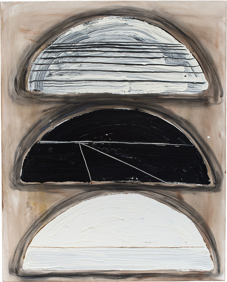 BASIL BEATTIE In the Darkness of the Night, 2010, oil and wax on canvas, 76 x 61cm