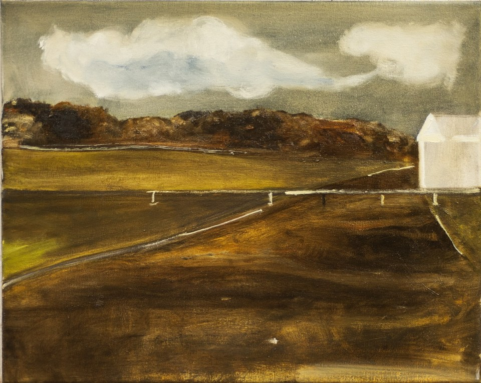 PETER ASHTON JONES The White Facade, 2017, oil on canvas, 41 x 52cm