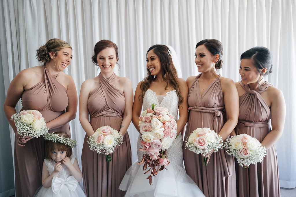 emma kate pink white bouquets