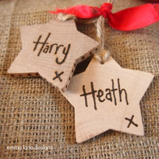 Wooden Rustic Star Gift Tag