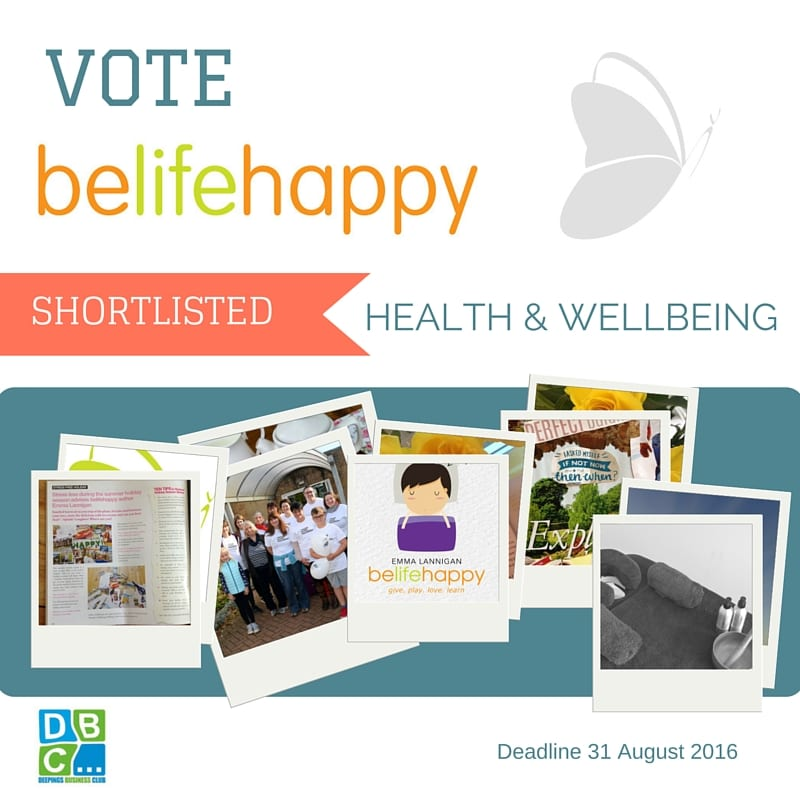 belifehappy shortlisted for health and wellbeing award