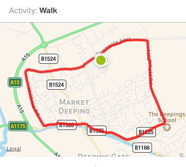 Walk Happy 2017 - Deeping 7km Route